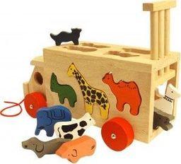 BigJigs Sorter Autobus ze Zwierzątkami -  do zabawy dla dzieci uniw