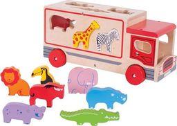 BigJigs Ciężarówka ze Zwierzątkami - Sorter ZOO  do zabawy dla dzieci uniw