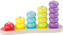 Small Foot Sorter dla dzieci - Kolorowe krążki, zabawki montessori uniw