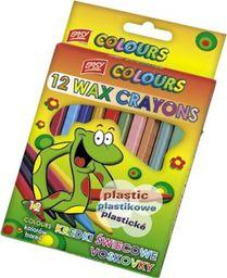 Akson Kredki świecowe plastikowe Easy 12 kolorów uniw