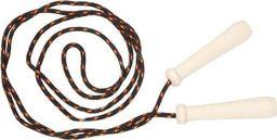 Akson Skakanka sznurkowa z drewnianymi rączkami - 2 m - czarna uniw