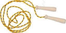 Akson Skakanka sznurkowa z drewnianymi rączkami - 2 m - żółta uniw