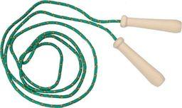 Akson Skakanka sznurkowa z drewnianymi rączkami  dla dzieci - 2 m - zielona uniw