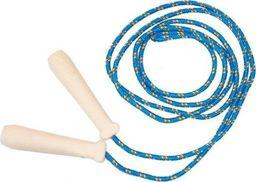 Akson  Skakanka sznurkowa z drewnianymi rączkami - 2 m - niebieska uniw