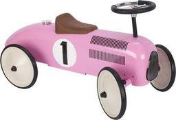 Goki Samochodzik metalowy jeździk dla dzieci- Formuła 1  różowy uniw