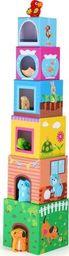 Small Foot Klocki wieża Zwierzaki - zabawki dla dzieci, pomoce montessori