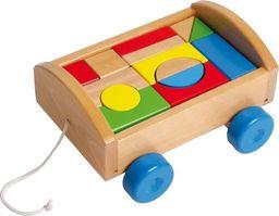 Small Foot Drewniane klocki dla dzieci w wózku (14 elementów) uniw
