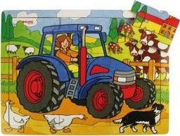 BigJigs Puzzle  dla dzieci traktor , 9 elementowe  uniw