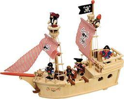 BigJigs Drewniany statek piracki do zabawy dla dzieci uniw