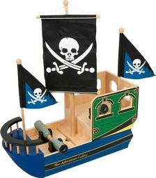 Small Foot Statek piracki Jack Sparrow -  zabawka drewniana dla dzieci uniw