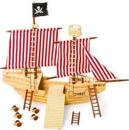 Small Foot Statek piracki z akcesoriami - 31 elementów - zabawka drewniana dla dzieci uniw