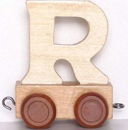 Small Foot Wagonik z literką R - LITERKA element z układanki ALFABET POCIĄG uniw