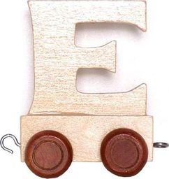 Small Foot Wagonik z literką E - LITERKA element z układanki ALFABET POCIĄG uniw