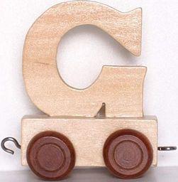 Small Foot Wagonik z literką G - LITERKA  element z układanki ALFABET POCIĄG uniw