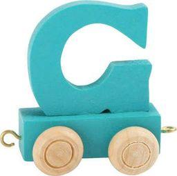 Small Foot Wagonik z literką G - element z układanki ALFABET POCIĄG uniw