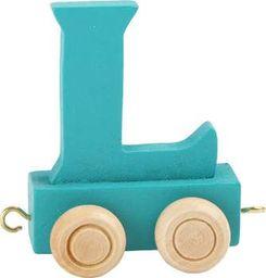 Small Foot Wagonik z literką L - element z układanki ALFABET POCIĄG uniw