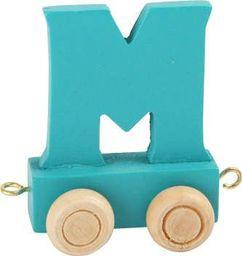 Small Foot Wagonik z literką M - element z układanki ALFABET POCIĄG uniw
