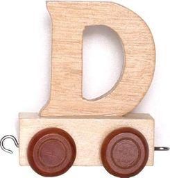Small Foot Wagonik z literką D - LITERKA element z układanki ALFABET POCIĄG uniw