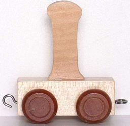 Small Foot Wagonik z literką I - LITERKA element z układanki ALFABET POCIĄG uniw