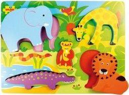 BigJigs Układanka Safari zabawka dla dzieci uniw