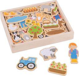BigJigs Magnesy na lodówkę do zabawy dla dzieci - Gospodarstwo uniw