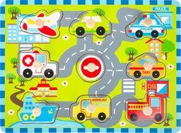 Small Foot Puzzle z uchwytami Transport  - Kreatywna układanka dla dzieci uniw