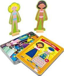 Small Foot Pudełko z ubrankami , ubierz Dziewczynke - Kreatywna układanka dla dzieci uniw