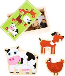 Small Foot Proste puzzle  dla najmłodszych - Farma uniw