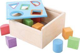 BigJigs Skrzynia z figurami geometrycznymi - sorter  do zabawy dla dzieci uniw