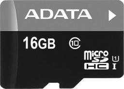 Karta ADATA MicroSDHC 16GB Class 10 + adapter (AUSDH16GUICL10-RA1)