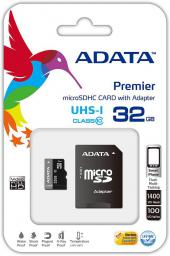Karta ADATA MicroSDHC 32GB (AUSDH32GUICL10-RA1)