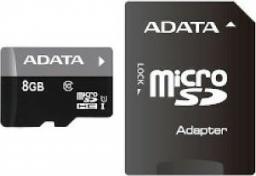 Karta MicroSD ADATA SDHC 8GB Class 10 + adapter (AUSDH8GUICL10-RA1)
