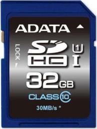 Karta ADATA Premier SDHC 32 GB Class 10 UHS-I/U1  (ASDH32GUICL10R)