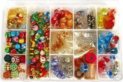Small Foot Koraliki - Zestaw do wyrobu biżuterii dla dzieci , zabawka montessori  uniw