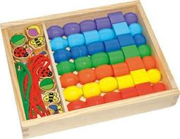 Small Foot Koraliki do nawlekania dla dzieci Jumbo, zabawka montessori  uniw