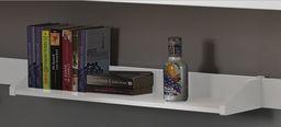 Vipack Półka do łóżek piętrowych z biurkiem Pino - sosna biała uniw