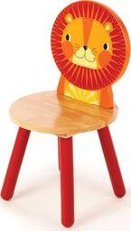 BigJigs Drewniane krzesło dla dzieci Lew uniw