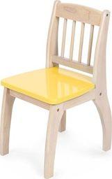 BigJigs Drewniane krzesło dla dzieci Yellow uniw