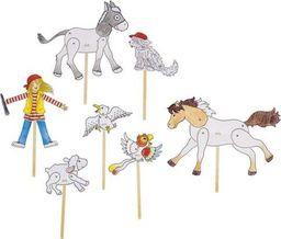 Goki Zestaw tekturowych zwierząt do zabawy Peggy Diggledey , zabawka montessori  uniw
