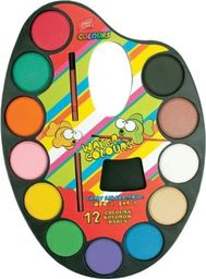Akson Akwarele dla dzieci Easy 12 kolorów PALETA uniw