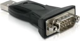 Adapter USB Delock USB-RS232 DB9 Czarny (61460)