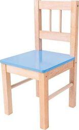 BigJigs Drewniane krzesełko dla dzieci (Niebieskie) uniw
