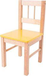 BigJigs  Drewniane krzesełko dla dzieci  (Żółte) uniw