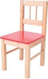 BigJigs Drewniane krzesełko dla dzieci (Czerwone) uniw