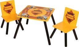 Kidsaw Komplet Stolik i 2 krzesełka Koparka MUDDY JCB dla dzieci  uniw