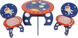 Kidsaw Komplet Stolik i 2 krzesełka z serii Rakieta Kosmiczna dla dzieci  uniw