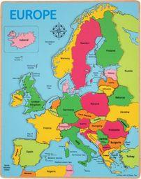BigJigs Puzzle - Mapa Europy zabawka dla dzieci uniw