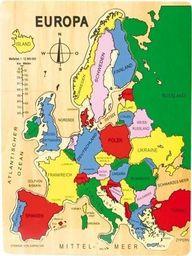 Small Foot Puzzle mapa  Europy dla dzieci uniw