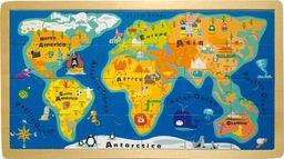 Small Foot Puzzle dla dzieci - mapa świata uniw