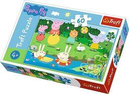 Trefl Puzzle 60 el.  Świnka Peppa Wakacyjna zabawa